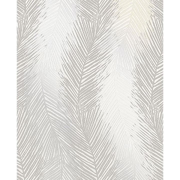 Picture of Wheaton Silver Leaf Wave Wallpaper