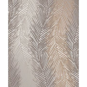 Picture of Wheaton Bronze Leaf Wave Wallpaper