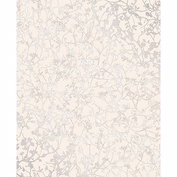 Picture of Palatine Cream Leaves Wallpaper