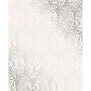 Picture of Gleam Silver Linear Ogee Wallpaper