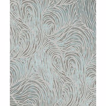 Picture of Andie Teal Swirl Wallpaper