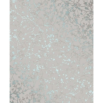 Picture of Palatine Teal Leaves Wallpaper