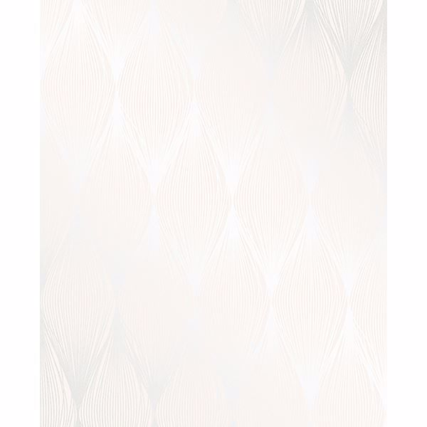 Picture of Gleam Cream Linear Ogee Wallpaper