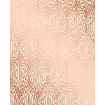 Picture of Gleam Bronze Linear Ogee Wallpaper