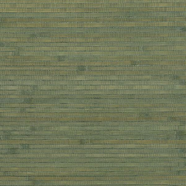 Picture of Teal Bamboo Grasscloth Wallpaper