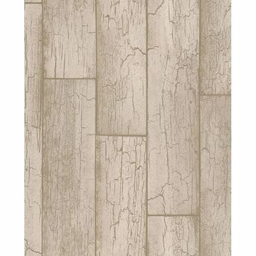 Picture of Esmee Taupe Wood Wallpaper