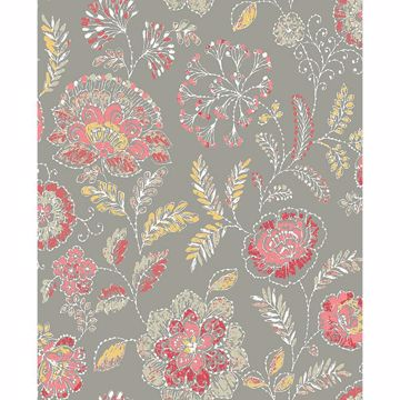 Picture of Tropez Coral Jacobean Wallpaper