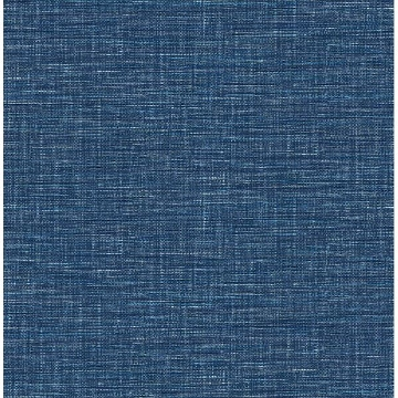 Picture of Exhale Denim Faux Grasscloth Wallpaper