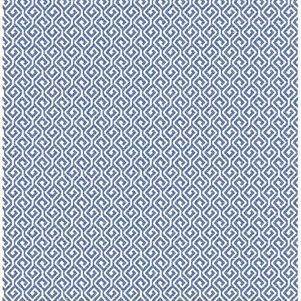 Picture of Sete Denim Greek Key Wallpaper
