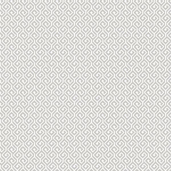 Picture of Sete Grey Greek Key Wallpaper