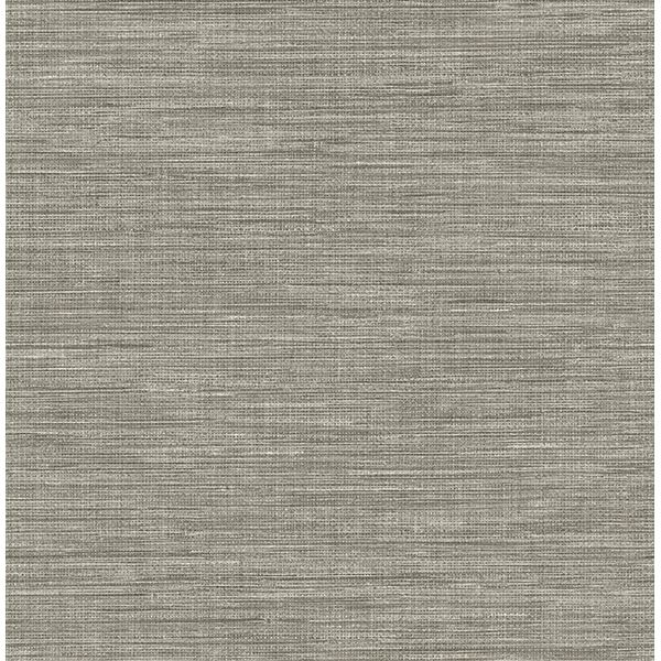 2744-24119 - Exhale Grey Faux Grasscloth Wallpaper - by A ...