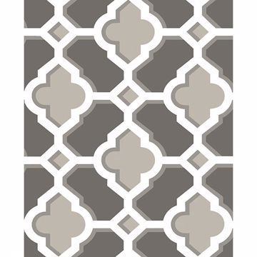 Picture of Lido Grey Quatrefoil Wallpaper