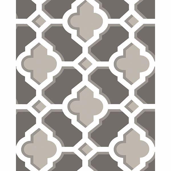 Picture of Lido Grey Quatrefoil Wallpaper
