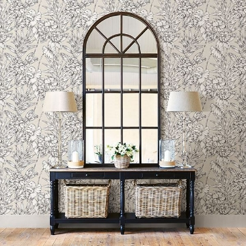 Picture of Fiji Beige Floral Wallpaper