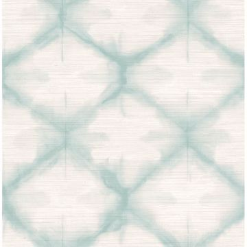Picture of Zanzibar Aqua Shibori Wallpaper