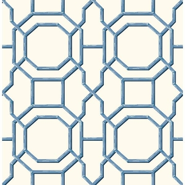 Picture of Summer Blue Trellis Wallpaper
