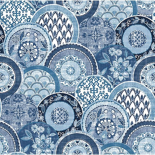 Picture of Laguna Blue Plate Wallpaper