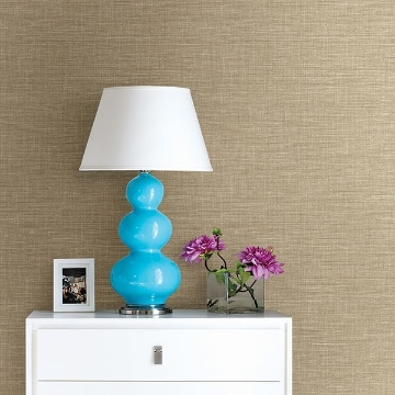 Picture of Exhale Taupe Faux Grasscloth Wallpaper