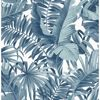 Picture of Alfresco Navy Palm Leaf Wallpaper