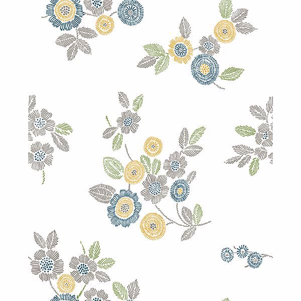 Picture of Malaga Grey Floral Wallpaper