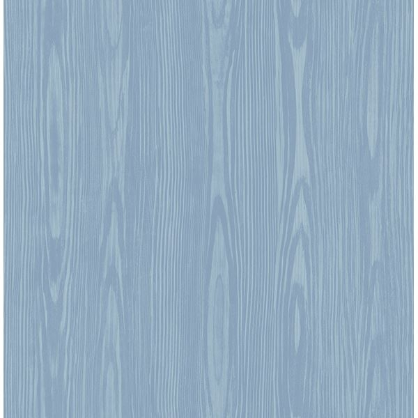 Picture of Illusion Blue Faux Wood Wallpaper