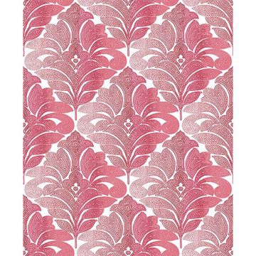 Picture of Balangan Red Damask Wallpaper
