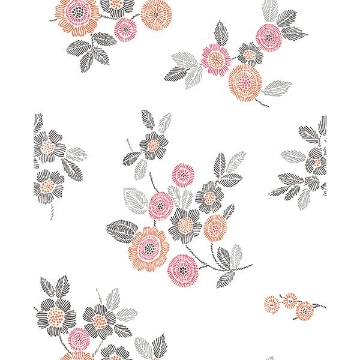 Picture of Malaga Pink Floral Wallpaper