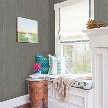 Picture of Illusion Grey Faux Wood Wallpaper
