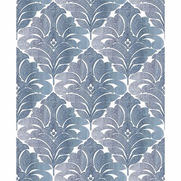 Picture of Balangan Navy Damask Wallpaper