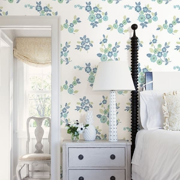 Picture of Malaga Green Floral Wallpaper