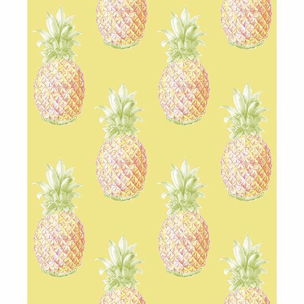 Picture of Copacabana Yellow Pineapple Wallpaper