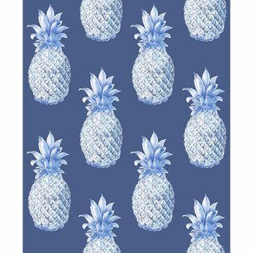 Picture of Copacabana Navy Pineapple Wallpaper