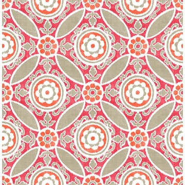 Picture of Maya Pink Medallion Wallpaper