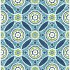 Picture of Maya Teal Medallion Wallpaper
