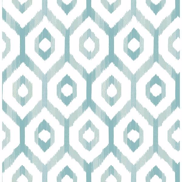 Picture of Lucia Teal Diamond Wallpaper