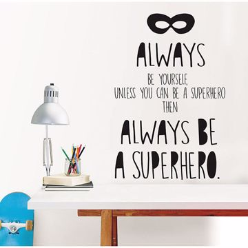 Picture of Superhero Wall Quote Decals