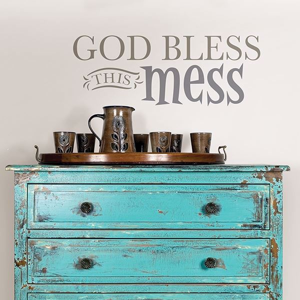 Picture of God Bless this Mess  Wall Quote Decals