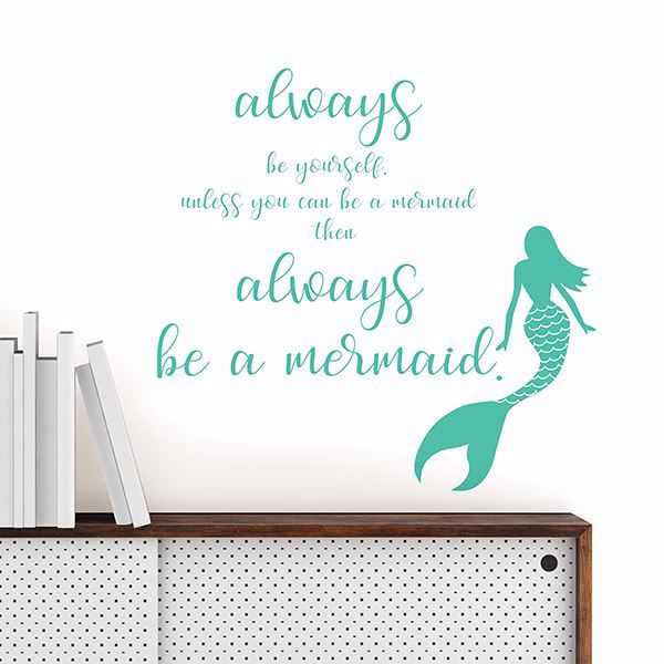 Picture of Mermaid  Wall Quote Decals