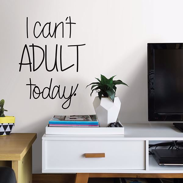 Picture of Cant Adult   Wall Quote Decals