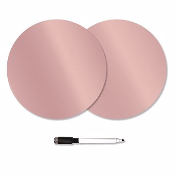 Picture of Rose Gold Dry Erase Dot Decals