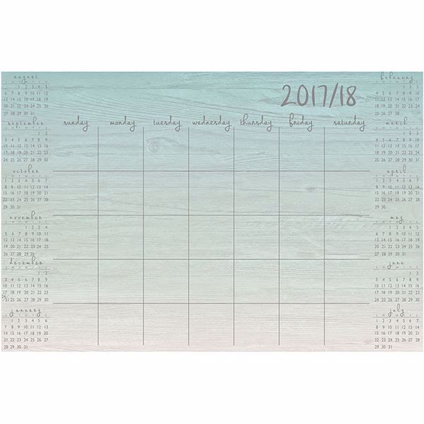 Picture of Tranquil Academic 2017-2018  Dry Erase Calendar Decal