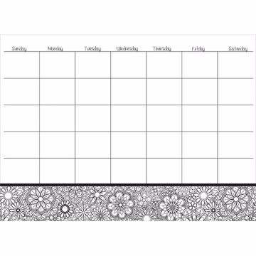 Picture of Kerala Coloring Dry Erase Calendar Decal