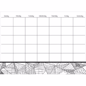 Picture of Obelisk Coloring Dry Erase Calendar Decal