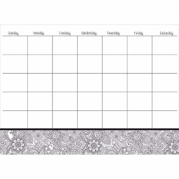 Picture of Punjab Coloring Dry Erase Calendar Decal