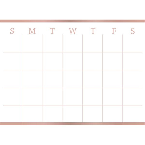Picture of Vogue Rose Monthly Dry Erase Calendar Decal