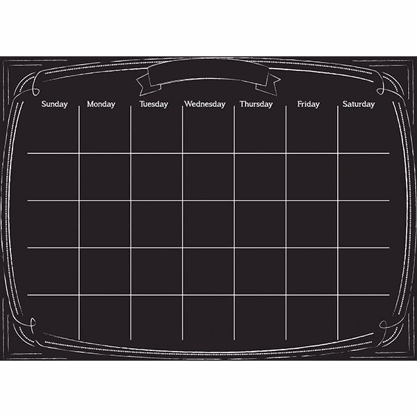 Picture of Pen & Ink Monthly Dry Erase Calendar Decal