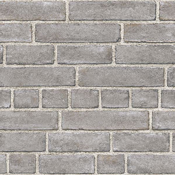 Picture of Grey Brick Facade Peel And Stick Wallpaper