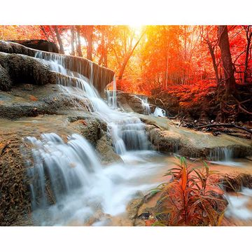 Picture of Autumn Waterfall Wall Mural