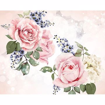 Picture of Roses and Sparkles Wall Mural