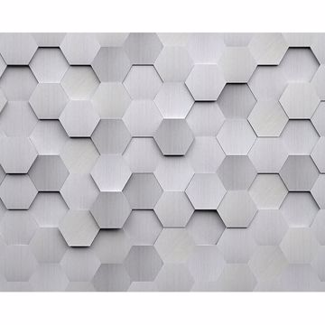 Picture of Metal Hexagons Wall Mural